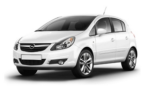 Opel corsa 5d bialy